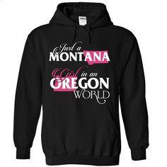 A MONTANA-OREGON girl Pink02 - #shirt pillow #tshirt cutting. PURCHASE NOW => https://www.sunfrog.com/States/A-MONTANA-2DOREGON-girl-Pink02-Black-Hoodie.html?68278