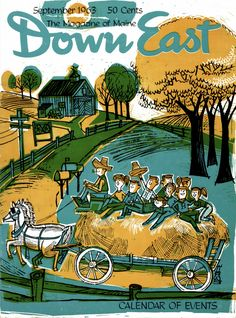 #ThrowbackThursday Our September 1963 cover by Edward Higgins.  Purchase full back issues of Down East Magazine, including this issue, on the Down East app. 📲 downeast.com/digital-editions/