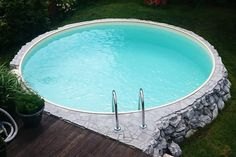 de Build your own pool! We help you!de Build your own pool! We help you!de Build your own pool! We help you! Swimming Pool Kits, Natural Swimming Pools, Above Ground Pool Landscaping, Front Yard Landscaping, Piscina Oval, Build Your Own Pool, Little Pool, Cool Pools, In Ground Pools