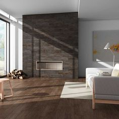 Bergen Collection. Wood Look Porcelain Tiles by ROCA