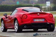 2015 Alfa Romeo 4C rear view  http://bravenewcarz.com/2015-alfa-romeo-4c/