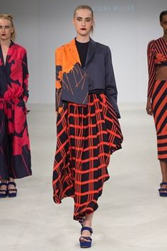 Catwalk photos and all the looks from Birmingham City University Autumn/Winter 2015-16 Ready-To-Wear London Fashion Week