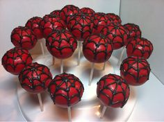 spiderman boy birthday cake - I could so do these. Could make green ones for hulk too.