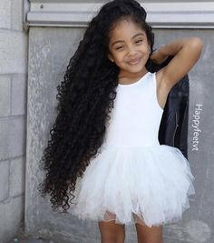 80 Long Curly Hairstyles for Women - Page 76 of 80 - Soflyme Haircuts For Curly Hair, Long Curly Hair, Curly Hair Styles, Natural Hair Styles, Mix Baby Girl, Cute Baby Girl, Beautiful Black Babies, Beautiful Children, Curly Girls