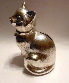 Modern Bronze Sculpture Big Chubby Cat Signed Fernando
