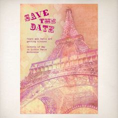 love paris printable party invitation