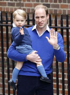 Prince William takes Prince George to meet his new sister