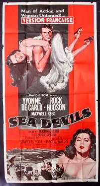 Yvonne De Carlo, Film Posters, Pulp Fiction, Sea, Movies, Adventure Movies, Movie Posters, Films, Film Poster