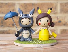 Geek Wedding Cake Toppers Cakes Totoro Pikachu Playground Planning Groom Pies