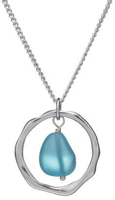 Sea Glass Pendant Necklace Handmade Silver Plated Modern Women Fashion Gift New | Jewelry & Watches, Fashion Jewelry, Necklaces & Pendants | eBay!