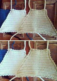 petos a crochet - Buscar con Google Crochet Tank Tops, Crochet Summer Tops, Crochet Bikini Top, Crochet Shorts, Crochet Clothes, Crochet Top, Knit Patterns, Sewing Patterns, Crochet Projects