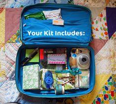 Heart Handmade UK: DIY Travelling Art Kit Journal Challenge from Janel at Run with Scissors Smash Book, Planners, Journal Challenge, Travel Drawing, Travel Kits, Car Travel, Travel Hacks, Art Journal Inspiration, Journal Ideas