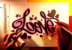 Como dibujar dibujos de amor faciles de hacer y frases de amor paso a pa...