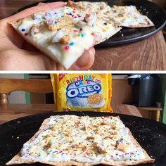 Ingredients:1 Josephs Lavash Bread (or could use a flatbread. Josephs just have unreal macros)1 Cup Fat Free Plain Greek Yogurt12g Fat Free/Sugar Free Cheesecake Pudding Mix28g (1oz) Fat Free Cream Cheese1.5 Birthday Cake Ore...