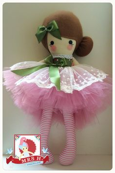 "19"" doll with removable deluxe tutu Suitable from birth Hand wash only"