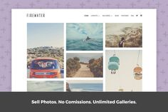 Simple Photography Theme - Firewater by Authority on @creativework247