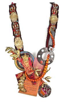 """""""Die Gleichisse Jesu"""" (2010) - Necklace of found material by Valeria Hasse and Marcela Muñiz"""