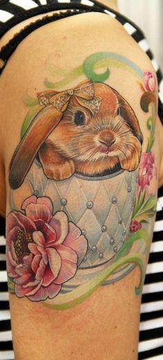 Bunny Tattoo by Anna Belozerova