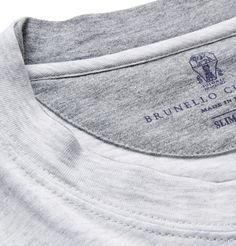 Brunello Cucinelli Mélange Cotton-Jersey T-Shirt