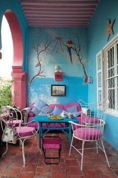 Inspiración para decorar balcones pequeños Casa y Jardín, Decoración - Miv Interiores