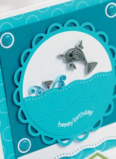Say happy birthday with a quilled sea-themed card, it's easier than it looks!