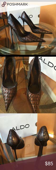 New Croc ALDO HEELS 37 LAST MARKDOWN New ALDO Shoes Heels