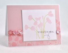 soft poppies sweet blush; simple card, but so effective. love the use of buttons
