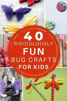 If you are looking for easy-peasy Bug activities, then these crafts are for you! And they're FREE! Check out more than forty fun critter crafts! Insect Crafts, Bug Crafts, Easy Diy Crafts, Craft Stick Crafts, Paper Crafts, Craft Ideas, Handprint Butterfly, Butterfly Crafts, Bug Activities