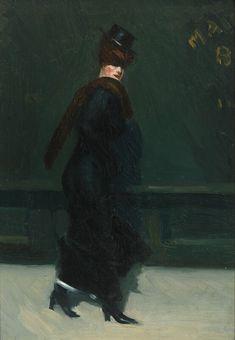 Woman Walking (Edward Hopper, 1906, Whitney Museum, New York)