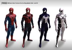 3D Spider-Man Suits Fan Creation Set 1. pic.twitter.com/cgYmAHzGEf