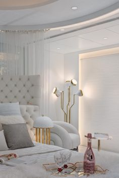 Greatly inspired by Phillipe Starck and Marcel Wanders, the couple wanted to achieve a total white décor, but with reflective surfaces, to give the space a bigger feel. After all, exquisite materials add a sense of glam.  #interiordesign #architecturedesign #contemporarydesign #moderndesign #classicdesign #mid-centurydesign #eclecticdesign