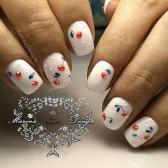 Fun Nails, Pretty Nails, Fruit Nail Designs, Uñas Fashion, Nagellack Trends, Creative Nails, Woman Painting, Nail Trends, Mani Pedi