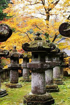 Stone lanterns, Tochigi Prefecture, Japan