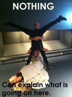 haha ! hunger games cast. Maybe they're fighting over Cato...
