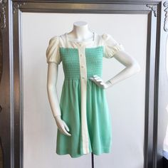"""15 Likes, 1 Comments - Via's Vintage (@viasvintage) on Instagram: """"This is such a sweet little dress. Bobbie Brooks size 18, which is a teen size.  There are mint…"""""""