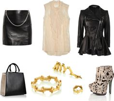 """""""Leather and Lace"""" by costisjewelry on Polyvore"""