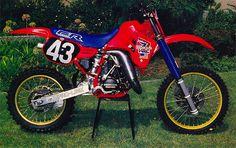 Honda fabrica CR 125cc, 1986 Micky Dymond