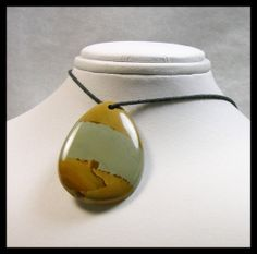 Tear Drop LARGE Rocky Butte Jasper Focal by GemsoftheNorthwest, $32.00