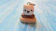 Kawaii Smore Polymer Clay Charm Chibi. $5.00, via Etsy.