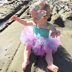 "22 Likes, 2 Comments - Natalie (@underthecherrytreeau) on Instagram: ""MERMAID MAGIC! Lovely Liliana in her custom tutu and mermaid magic bow! . . . 📷…"""