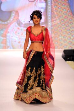A television actor on the ramp in 'Beti', a show by Gitanjali Gems. About 20 television celebrities walked the ramp. #Bollywood #Fashion