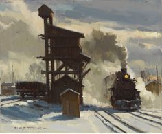 David Tutwiler American Railroad Art Tuttart Pittura - David Is A Member Of The Steam Railway Historical Society The American Society Of Marine Artists And A Signature Member Of The Oil Painters Of America With His Wife Fellow Artist Line Tutwiler Dav Train Illustration, Steam Art, Railroad History, Train Art, Train Pictures, Historical Art, Historical Society, Traditional Paintings, Train Tracks