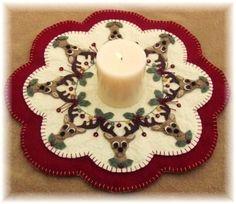 Renos Navidad Penny alfombra vela mate papel por por pennylaneprims