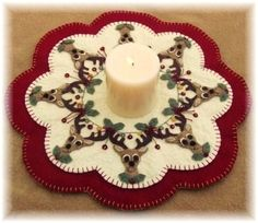 Santa's Reindeer Christmas Penny Rug Candle Mat DIGITAL PATTERN