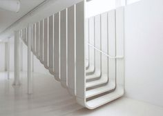 The floating staircase showcased at the new ZHA showroom