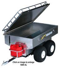 1600 Aluminum ATV Wagon-ultimate ATV hunting trailer, camping trailer, dog trailer, fishing ATV trailer,Aluminum ATV trailer