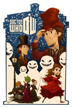 This started out as just the Vastra Trio, but blew up into a poster illustration of The Snowmen Christmas special. Who: The Snowmen I Am The Doctor, Doctor Who Art, Eleventh Doctor, Madame Vastra, Doctor Who Christmas, Scrapbooking, Don't Blink, Rose Tyler, Captain Jack