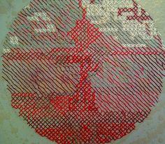 Willemien de Villiers | embroidery on canvas, process