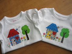 Appliqued t-shirts by mamacjt, via Flickr