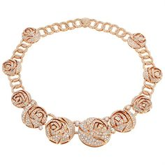 Bulgari - Rose gold necklace with diamonds and pavé diamonds. High Jewellery Collection